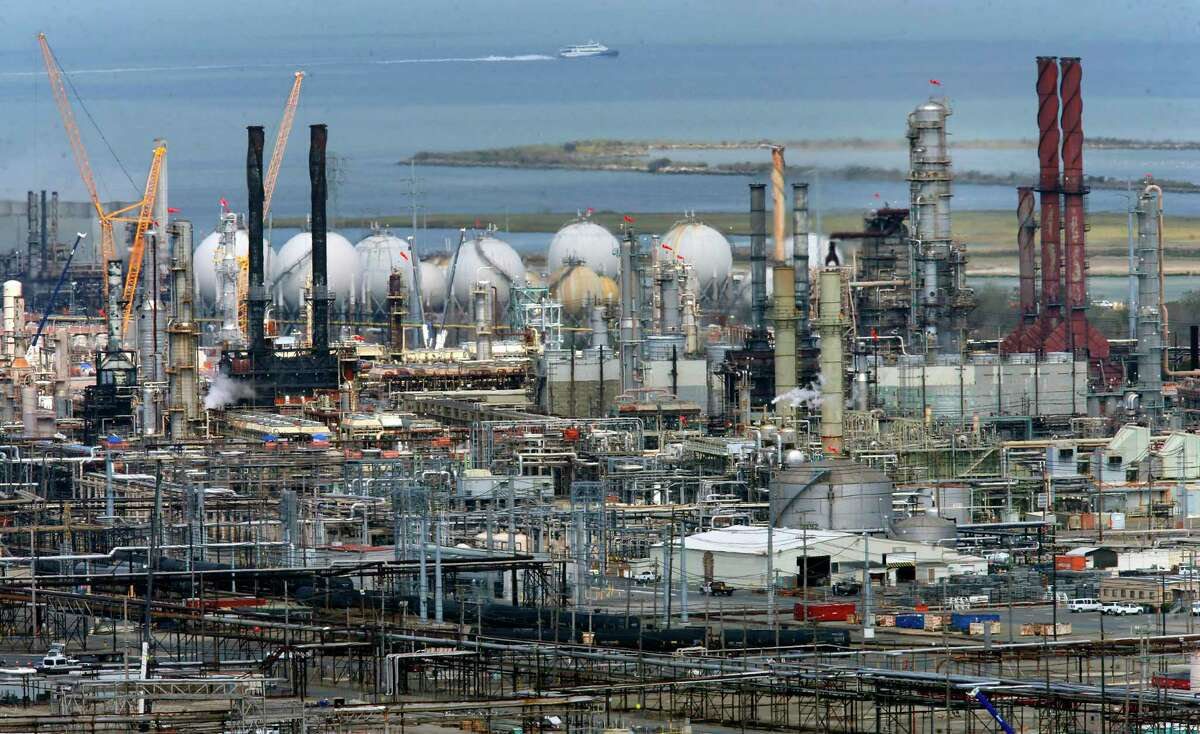 The Chevron refinery in Richmond, Calif. Continue to see how Houston-area refineries fared after Hurricane Harvey.