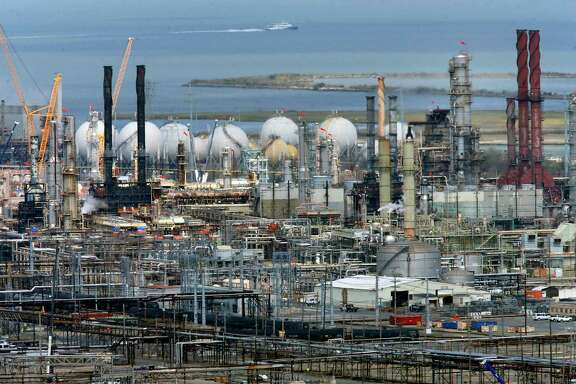 The Chevron refinery in Richmond, Calif. Oil companies are getting sued for the potential damages of climate change.