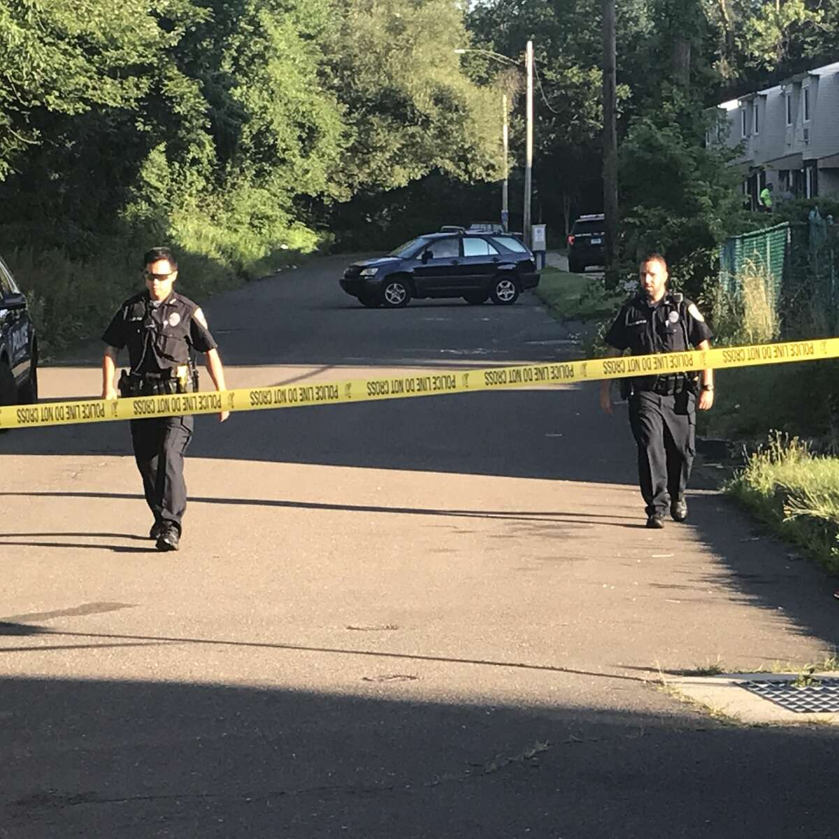 West Haven police investigated the shooting of a man on Jaffery Street after midnight early Monday, July 9, 2018.