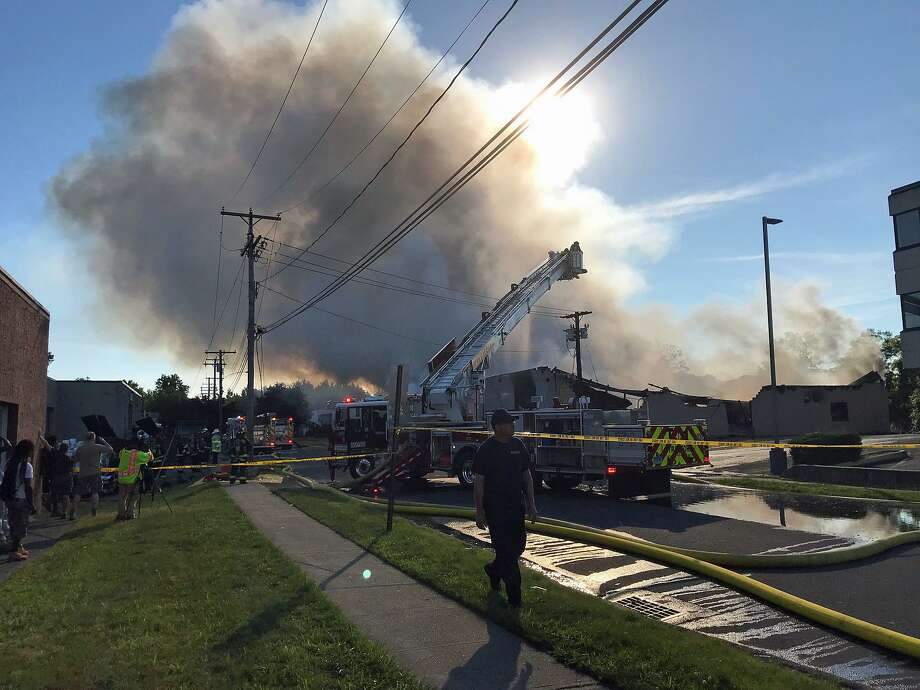 An Intensive Fire Broke Out At An Industrial Building At 10 Research Drive  In Stratford On
