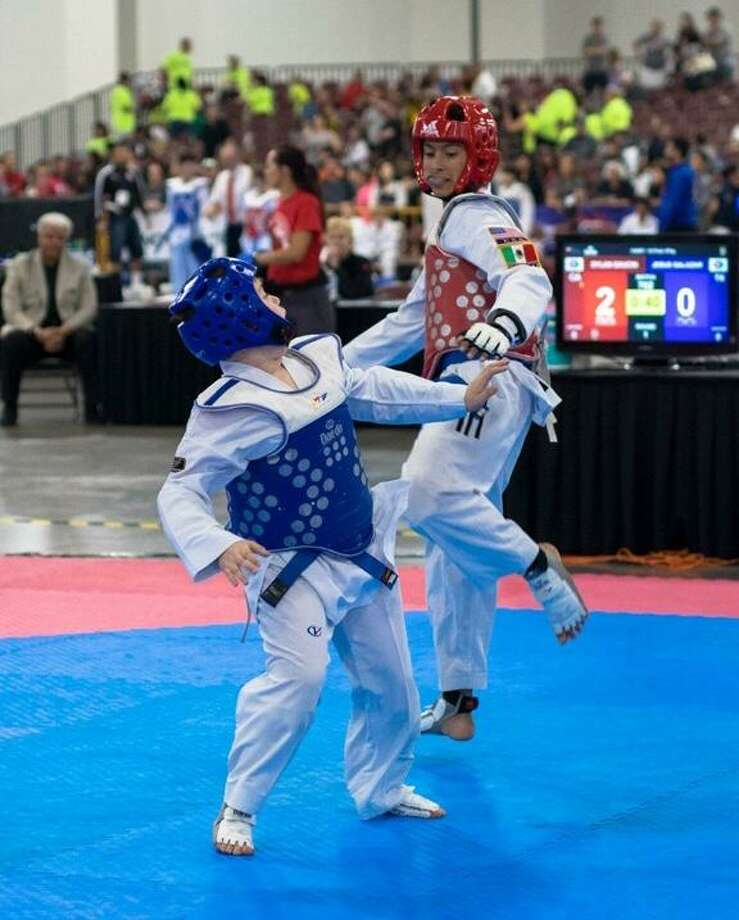 Sergio Salazar finished in third place at the 2018 USA Taekwondo National Championships at Salt Lake City, Utah. Photo: Courtesy Photo