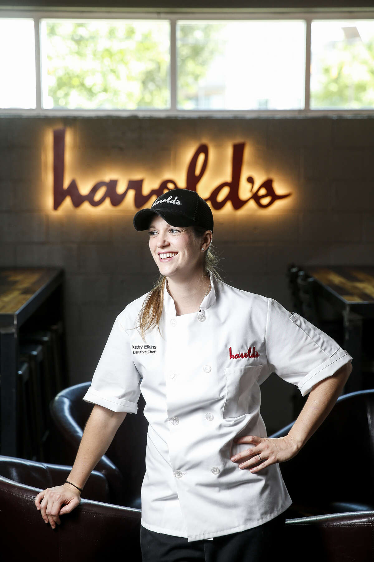 Kathy Elkins is the new executive chef at Harold's Restaurant & Tap Room in the Heights.