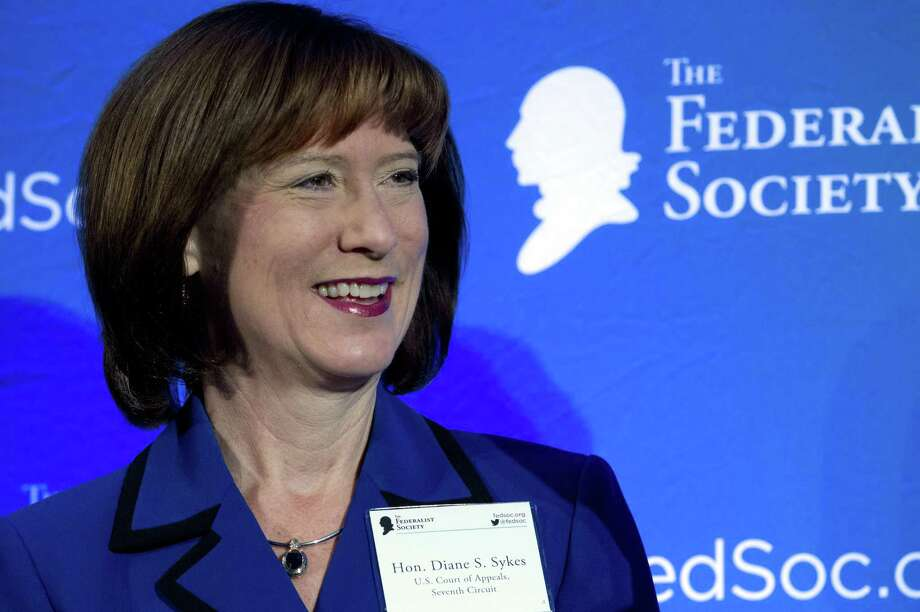 U.S. Court of Appeals, Seventh Circuit, Judge Diane Sykes speaks in a discussion during the Federalist Society's National Lawyers Convention in Washington. President Donald Trump's list of candidates for the Supreme Court, posted on White House website in November 2017 includes Sykes ( AP Photo/Jose Luis Magana, File) Photo: Jose Luis Magana, FRE / Associated Press / FR159526 AP
