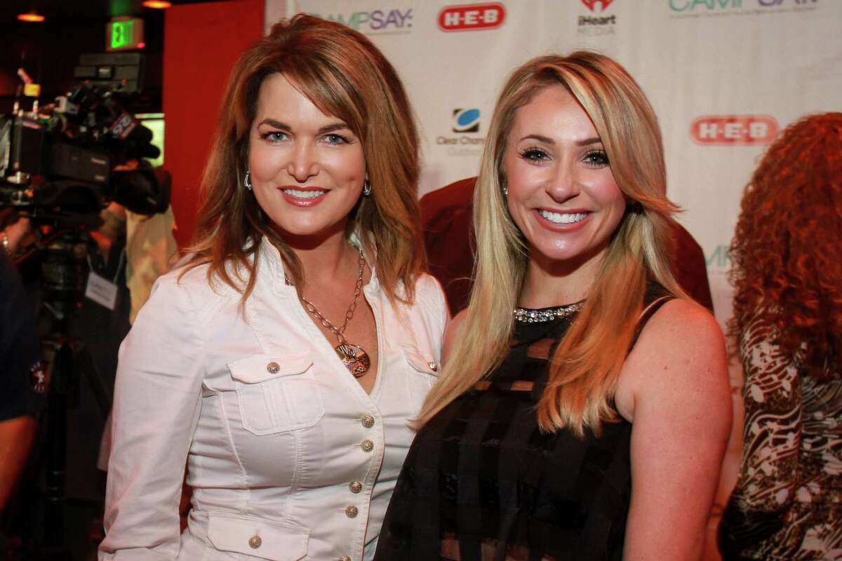 Melissa Wilson, left, and Chita Craft at George Springer's 4th annual All-Star Bowling Benefit