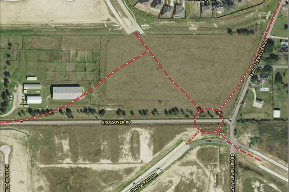 This map shows the Spring Green Boulevard round-about proposed as part of Fort Bend County's 2013 mobility bond election.