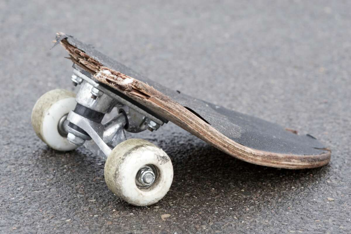 A skateboard was used by a teenager to assault a man on Market Street, near the intersection of Kearny Street in San Francisco on Sunday.