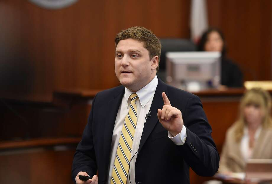 Plaintiff attorney Brent Wisner speaks during opening remarks during the Monsanto trial in San Francisco, California on July, 09, 2018.  Monsanto is being accused of hiding the dangers of its popular Roundup products. / AFP PHOTO / POOL / JOSH EDELSONJOSH EDELSON/AFP/Getty Images Photo: JOSH EDELSON;Josh Edelson / AFP / Getty Images