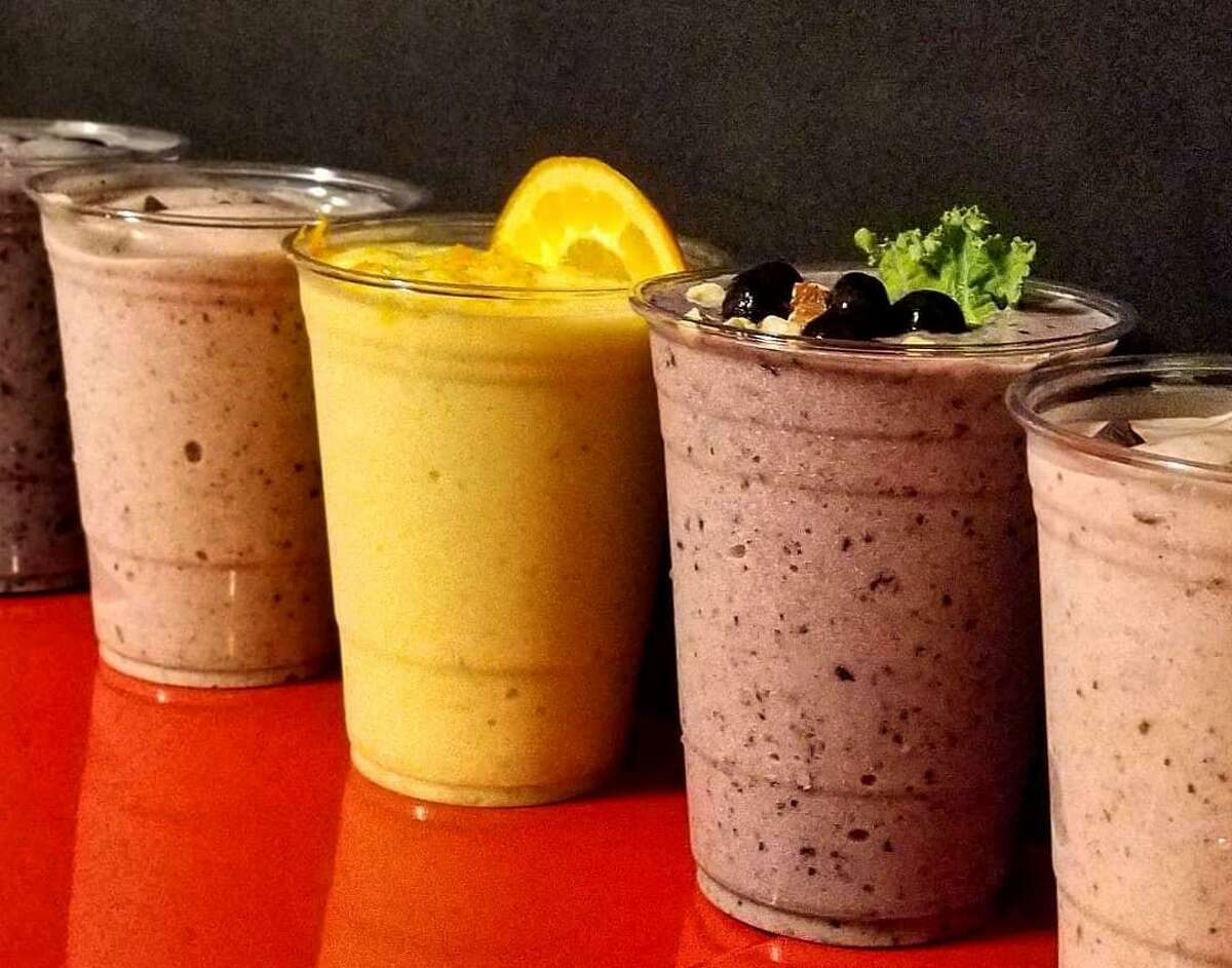 A selection of smoothies from Go Vegan San Antonio.