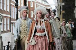 """Lesley Manville is Lydia Quigley, the Lady MacBeth of brothel keepers, who prides herself on running a house of luxury for upper-crust patrons — and dressing the part — in """"Harlots"""" on Hulu."""