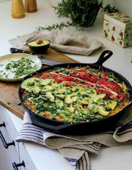"""Chicken Taco Lasagna from """"The Family Table: Recipes & Moments from a Nomadic Life"""" by Jazz Smollett-Warwell, Jake Smollett, Jurnee Smollett-Bell and Jussie Smollet. Photo: William Morrow / William Morrow"""