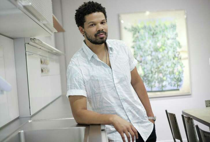 "Food personality Jake Smollett, one of the authors of ""The Family Table,"" a cookbook he wrote with his siblings, signed books at Kuhl-Linscomb during a recent visit to Houston."