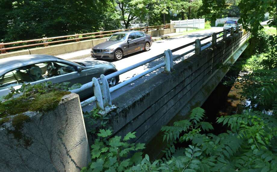 The James St. bridge over the Silvermine River on Monday July 9, 2018 in Norwalk Conn. The Common Council will vote on a 1.8 million proposal for  repairs to the structure. Photo: Alex Von Kleydorff / Hearst Connecticut Media / Norwalk Hour