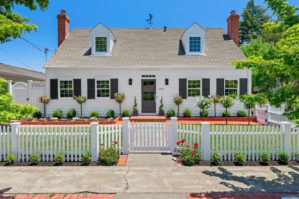 Sweet Cape Cod in Sonoma, remodeled, painted white, and ready for market, asking $1.872M