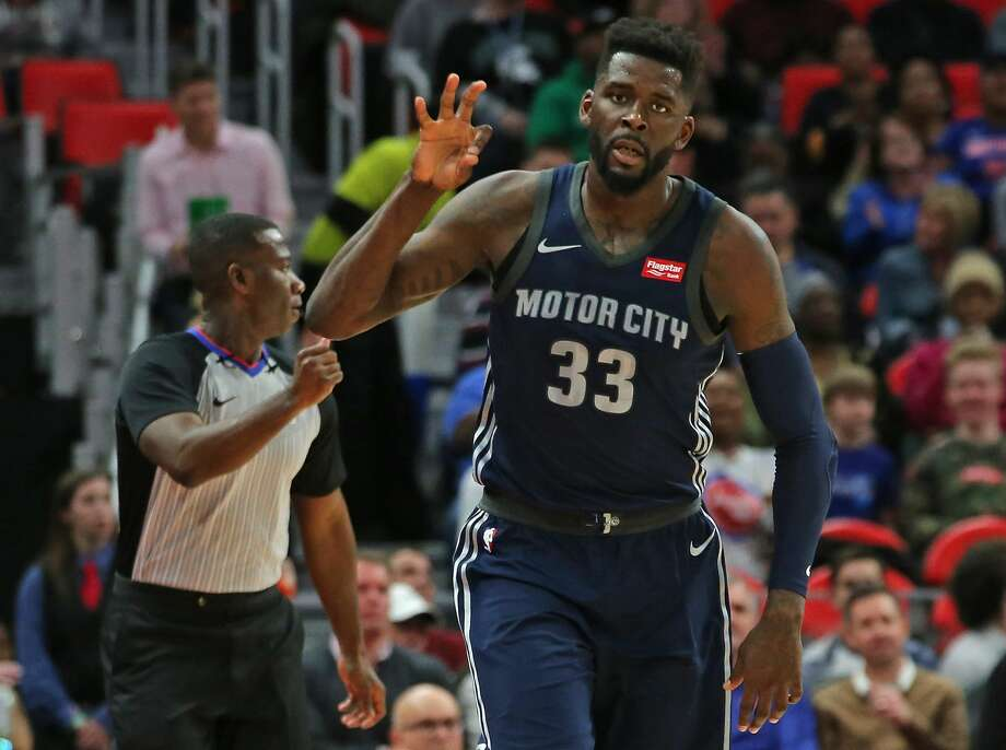PHOTOS: An update on free agents still available and where others free agents have signed James Ennis III #33 of the Detroit Pistons celebrates a three point shot during the first half of the game against the Chicago Bulls at Little Caesars Arena on March 9, 2018 in Detroit, Michigan. Detroit defeated Chicago 99-83. (Photo by Leon Halip/Getty Images) Photo: Leon Halip/Getty Images