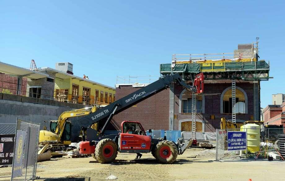 Construction work continues on the Amtrak train station on Monday, July 9, 2018, in Schenectady, N.Y.   (Paul Buckowski/Times Union) Photo: Paul Buckowski / (Paul Buckowski/Times Union)