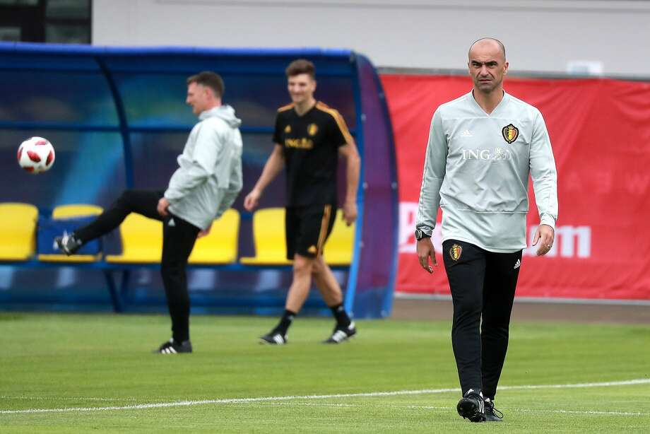 Belgium coach Roberto Martinez (right) is two wins away from becoming the first coach to win a World Cup for a country he was not born in. The 44-year-old Martinez was born in Spain. Photo: Fadeichev Sergei/Tass / TNS