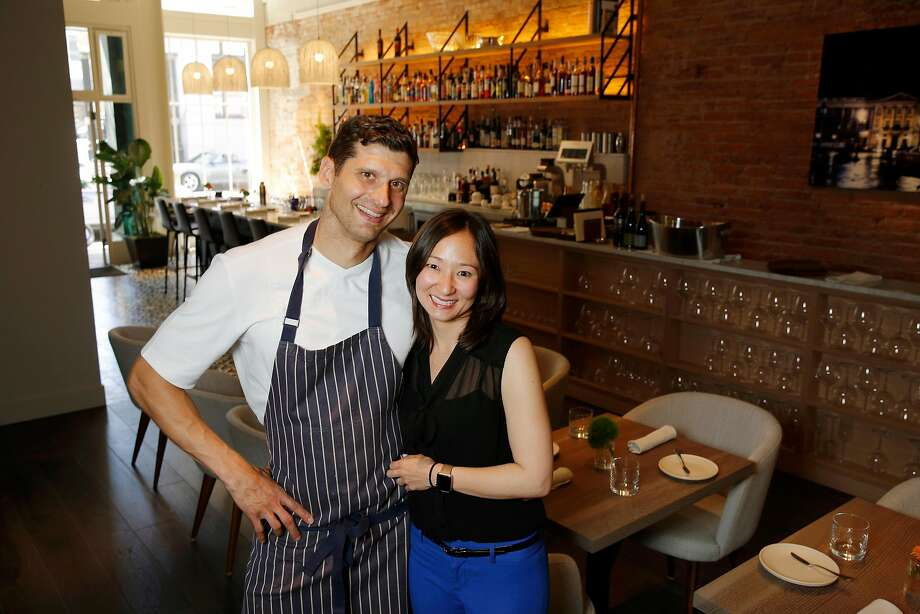 Nico owners Nicolas and Andrea Delaroque at the restaurant. Photo: Santiago Mejia / The Chronicle