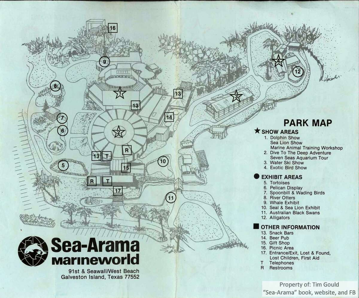 This is a map of Sea-Arama, courtesy of Tim Gould, of what the park looked like during the last year it was open along the Seawall.
