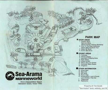 This is a map of Sea-Arama, courtesy of Tim Gould, of what the park looked like during the last year it was open along the Seawall. Photo: Tim Gould