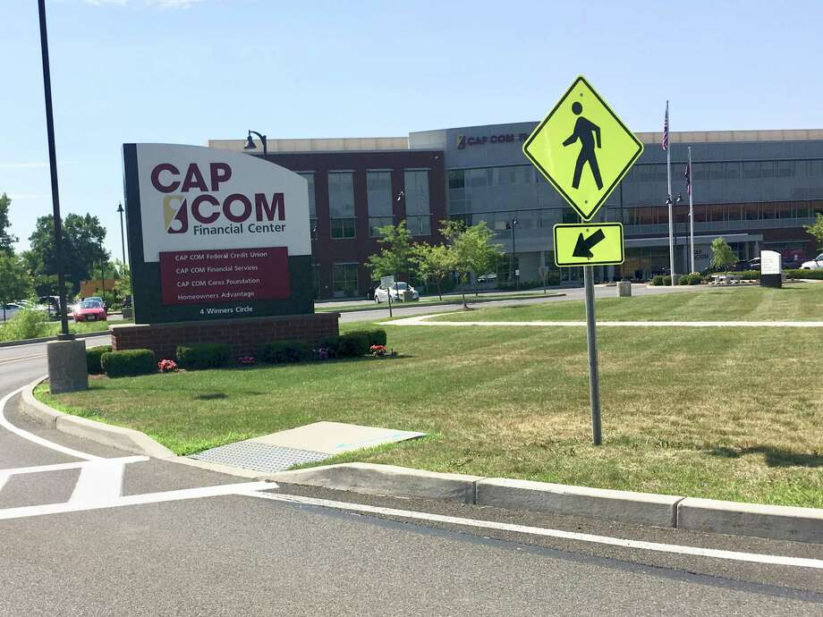 Cap Com Federal Credit Union's headquarters off Wolf Road in Colonie. The credit union said a so-called shimmer device was installed at its New Karner Raod branch on June 29 and discovered the next day.