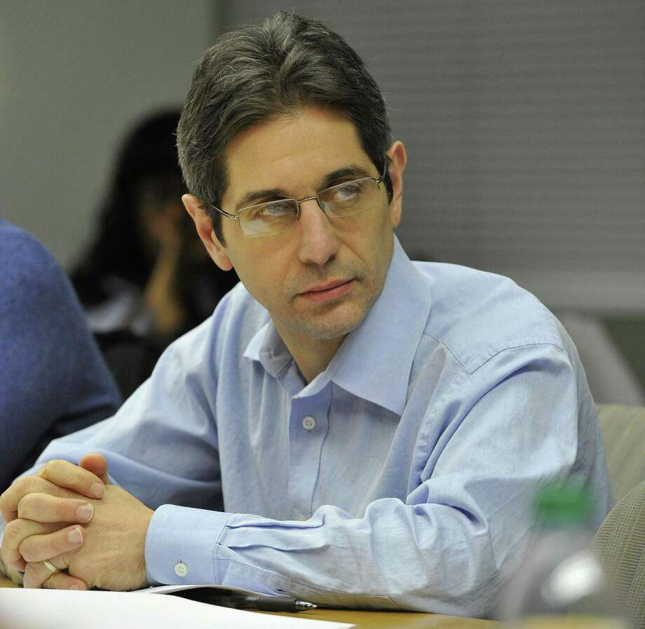 Frank Cerasoli, (R-15) looks on during the Board of Representatives' Pre-Steering meeting at the Stamford Government Center in Stamford, Conn., on Monday, Dec. 8, 2014. Photo: Jason Rearick / Jason Rearick / Stamford Advocate