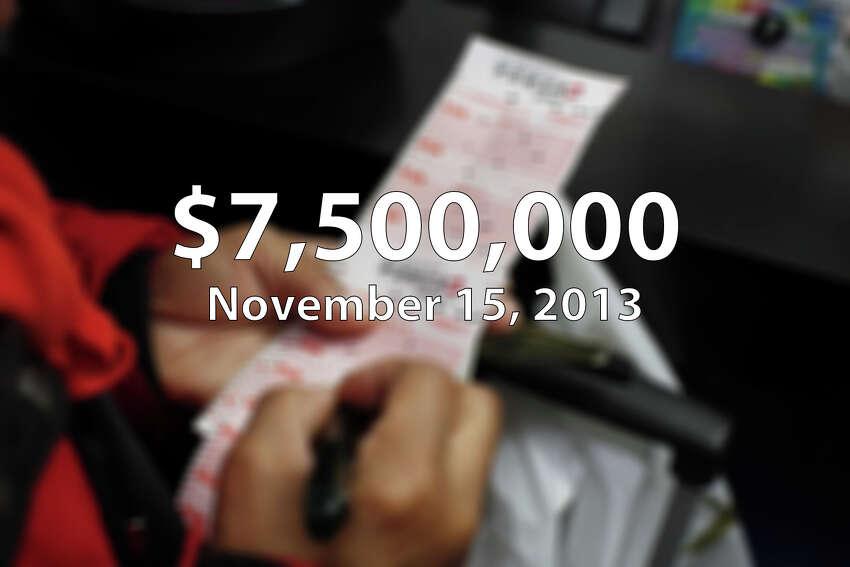 On Dec. 17, 2015, Deborah L Kempel of San Antonio won $7.5 million playing Diamond Dollars at Triple S Express in San Antonio.