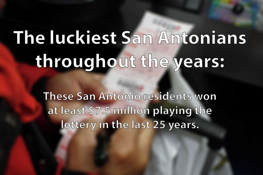 At least 25 San Antonians have won $7.5 million or more playing the lottery through the years. Click through the slideshow to find out how much they won and when they claimed their winnings. Photo: Courtesy Of Texas Lottery