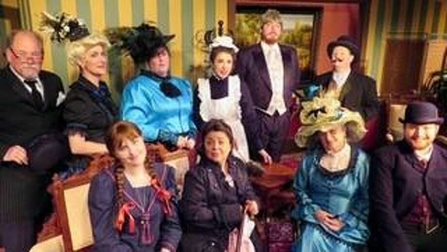 """Cast Theatrical Company, 1921 Ave. G in Rosenberg, will present """"Caught in the Villain's Web"""" on weekends, July 13-Aug. 11. Visit http://www.cast theatrical.com for details. Cast members include, from left, back row: James Rudel, Karen Lasater, Beth Ornelas, Miranda Valdes, Issac Cox and Jayson Looney; front row: Isabel Williams, Sara Valdes, Jean Oldmixon and Will Pocklington. Missing is Kelsey Marks. Photo: Sandy Barkerding / Sandy Barkerding"""