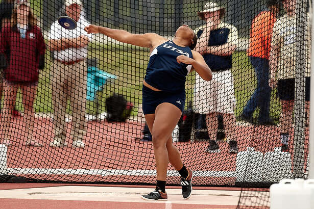 UTSA track & field's Lacee Barnes placed 27th in the discuss throw with a distance of 42.41m on Tuesday at the IAFF World U20 Championships in Tampere, Finland.      (Jeff Huehn/UTSA Athletics)