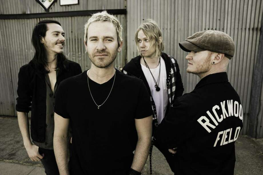 Lifehouse, guitarist Steve Stout, left, singer-songwriter Jason Wade, bassist Bryce Soderberg and drummer Ricky Woolstenhulme Jr., will perform in Stamford's Alive@Five music series at Columbus Park on July 26. Photo: Ted Newsome / Contributed Photo