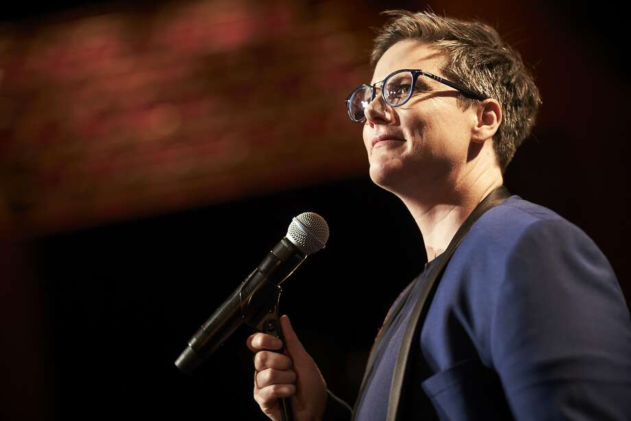 """When Hannah Gadsby stepped out on stage at The Moore theater on Saturday night for the first of one of two shows in Seattle, the specter of her last special hung over everyone — including Gadsby, who told the audience she wasn't sure why they wanted more of that.  """"It's a good show, I'm proud of it but whooo...do you really want more of it?"""" she asked the crowd (who responded in turn with rapturous applause and cheers). Photo: Ben King, Netflix"""