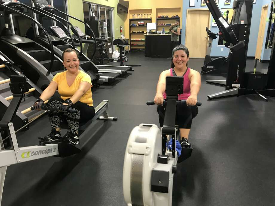 Juany Garza and Jaquiline Preciado at Bodify Fitness July 9, 2018 Photo: TAMIU Health And Physical Activity Club
