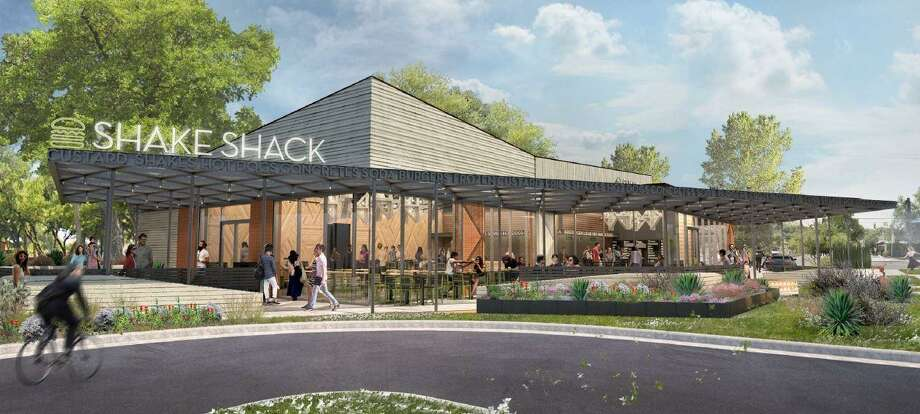 These renderings show San Antonio's second Shake Shack location, scheduled to open in early 2019 at 3003 Broadway near Brackenridge Park. Photo: Courtesy Shake Shack