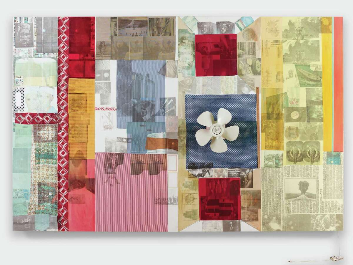 Robert Rauschenberg (1925-2008) Recital (Spread), 1980 mixed-media on canvas with objects 96