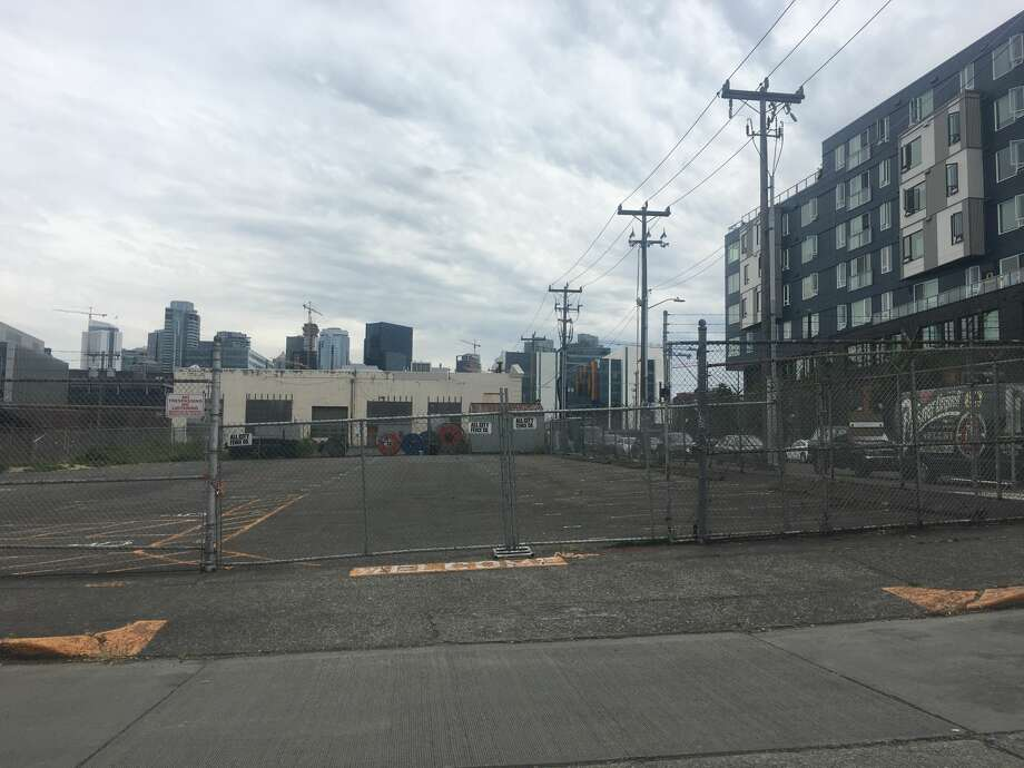 This site at Eighth Avenue North and Aloha Street in South Lake Union is where Seattle plans to put a tiny house village to offer transitional housing to people experiencing homelessness. The site, which has triggered plenty of backlash from neighbors, also drew a lawsuit over the city's permitting process. No work has begun yet to set up the encampment, but the size and scope of it has changed dramatically. Photographed July 9, 2018. Photo: ZOSHA MILLMAN / SEATTLEPI