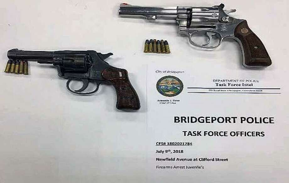 Two illegal firearms seized in Bridgeport, Conn., on July 9, 2018. Photo: Contributed Photo / Bridgeport Police Department / Contributed Photo / Connecticut Post Contributed