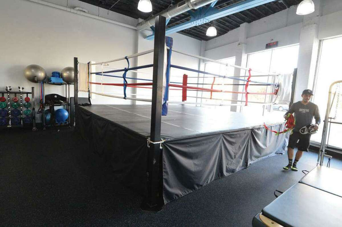 The boxing ring at Next Generation Fitness at 698 West Ave., in March 2016 a month after its opening. Entering July 2018, the gym closed its doors, with the building's owners making the space available for a range of uses.