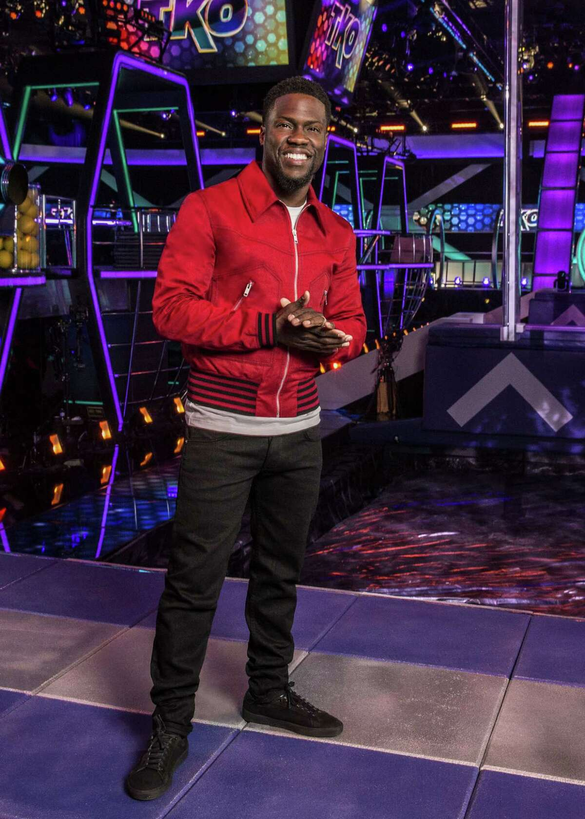 Actor and global superstar Kevin Hart will take on the role of host for the first time in his career with TKO: TOTAL KNOCK OUT, a brand new one-hour obstacle course competition series from executive producer Mark Burnett. The 10-episode series will premiere in summer 2018. Kevin Hart will also serve as an executive producer. Photo: Monty Brinton/CBS ©2018 CBS Broadcasting, Inc. All Rights Reserved.