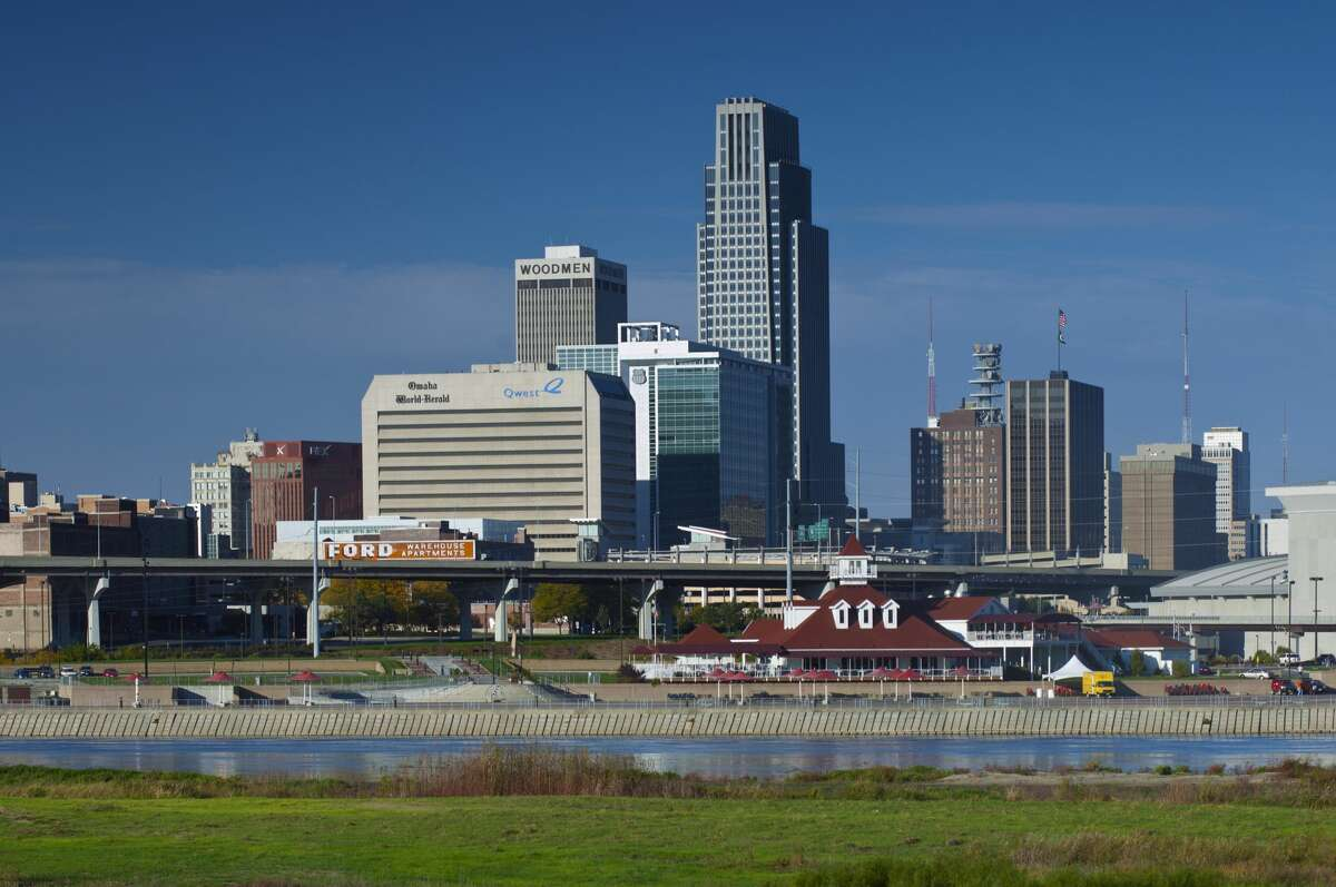 USA, Nebraska, Omaha, Skyline, Missouri River