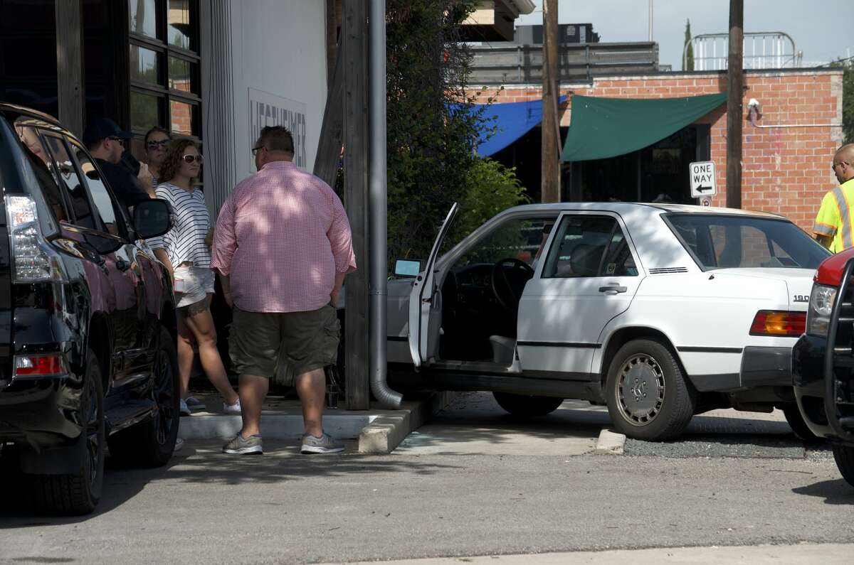 A woman suffering from a medical emergency crashed into the Underbelly restaurant Tuesday, July 10, 2018.