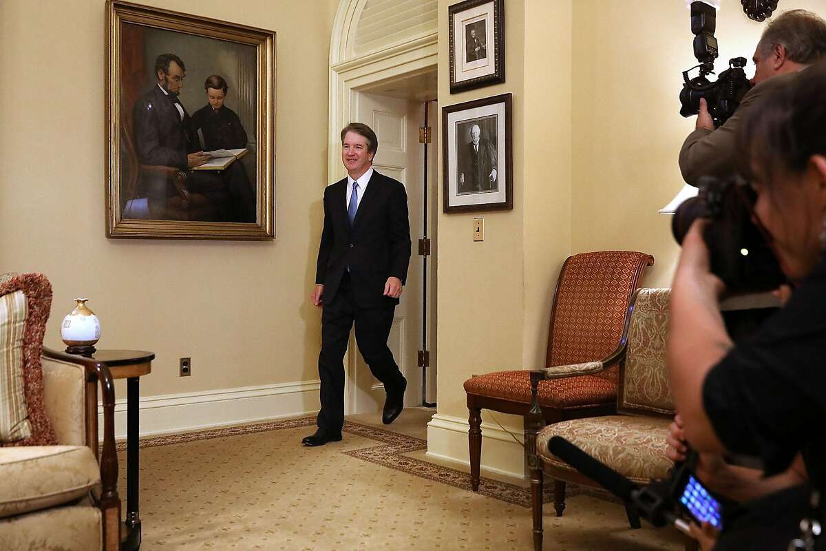 Brett Kavanaugh, U.S. Supreme Court associate justice nominee for U.S. President Donald Trump, arrives to a meeting with Senate Majority Leader Mitch McConnell, a Republican from Kentucky, not pictured, at the U.S. Capitol in Washington, D.C., U.S., on Tuesday, July 10, 2018. Senate Republicans are pledging a swift confirmation process that would put Kavanaugh on the bench before the new term opens Oct. 1, and there is little Democrats can do to stop them. Photographer: Chip Somodevilla/Pool via Bloomberg