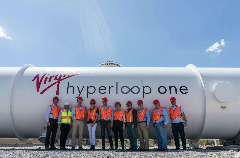 Officials with the Dallas-Ft. Worth Regional Transportation Council visited the Nevada test site for Hyperloop One earlier this year. Photo: Sarah Lawson (Hyperloop One)