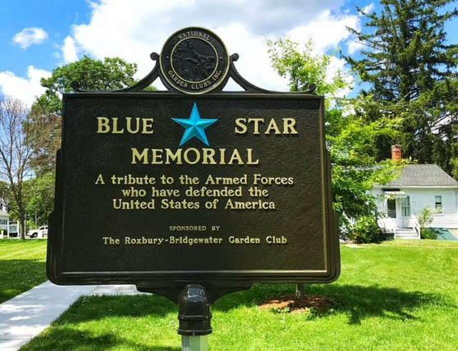 The Blue Star Memorial sign in Bridgewater is shown near Capt. Burnham's historic home. Photo: Courtesy Of Rudy Simari / The News-Times Contributed
