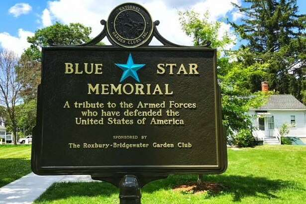 The Blue Star Memorial sign in Bridgewater is shown near Capt. Burnham's historic home.