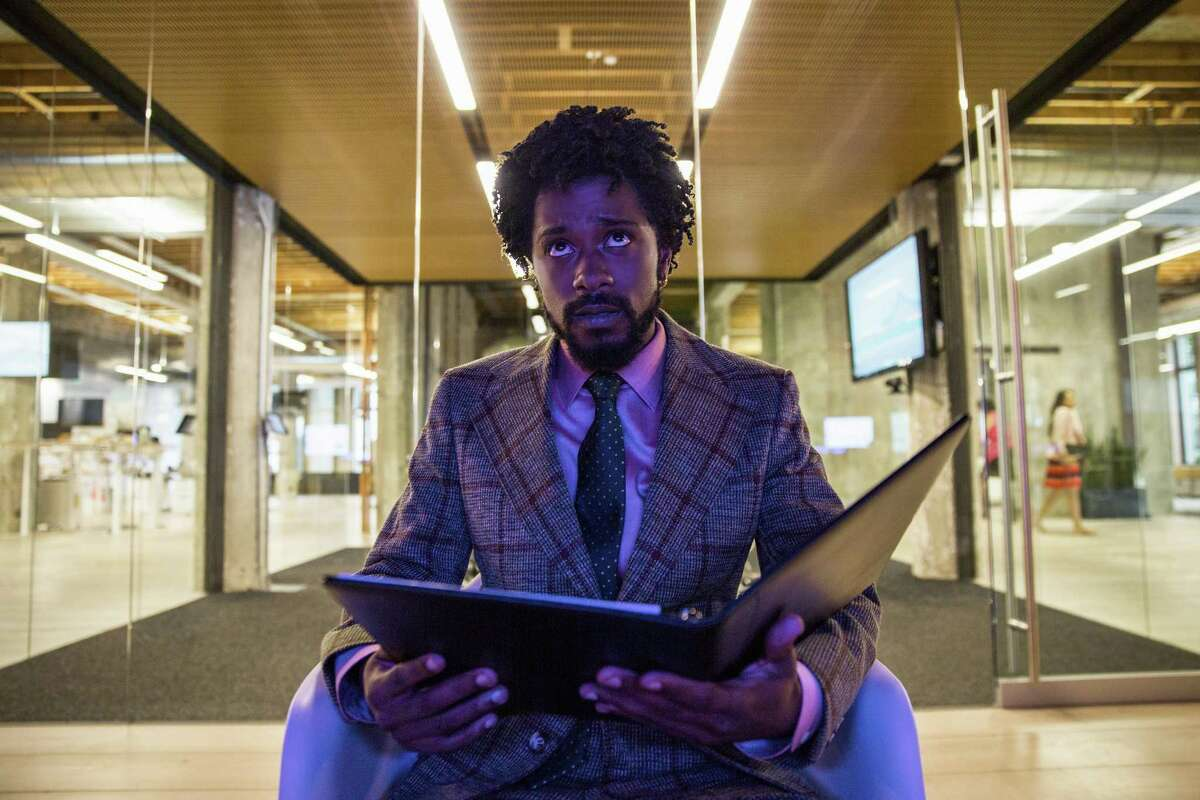 """Lakeith Stanfield as Cassius Green in a scene from the film, """"Sorry To Bother You."""""""