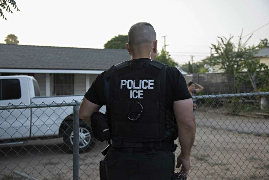 An Immigration and Customs Enforcement raid in Riverside, Calif., June 22, 2017. At least 19 ICE investigators are seeking to dissolve the agency, concerned that the Trump administrations crackdown on illegal migrants has limited their ability to pursue national security threats, child pornography and transnational crime. But Democrats are more loudly taking up the call because of family separations done after workplace raids. Photo: MELISSA LYTTLE /NYT / NYTNS