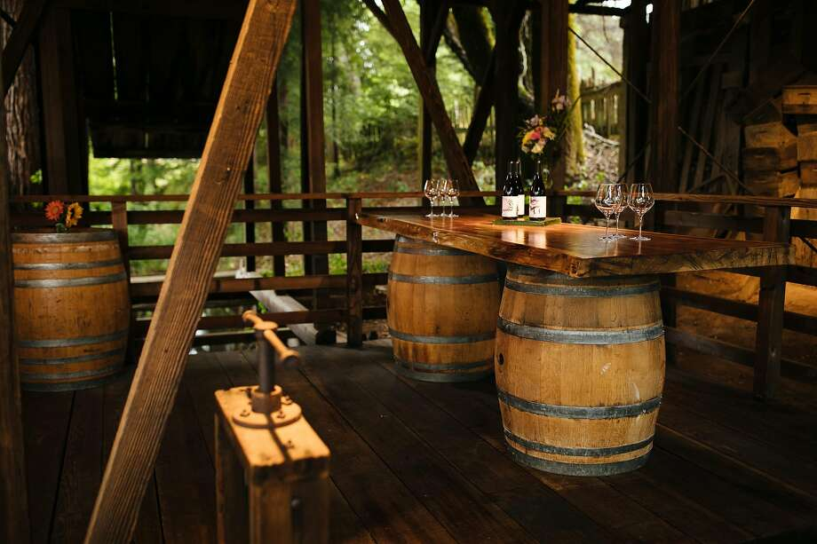 One of California's coolest tasting rooms: a century-old apple drying barn, where Phillips Hill Winery pours its wines. Photo: Mason Trinca / Special To The Chronicle