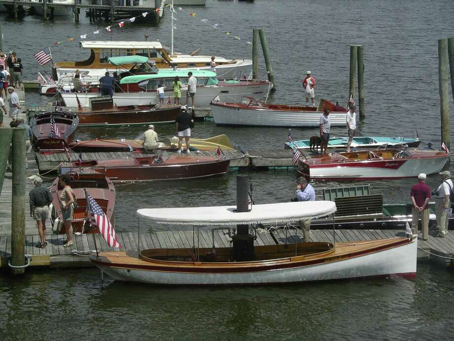 "The Southern New England Chapter (SNEC) of The Antique and Classic Boat Society will present the 34th annual ""Mahogany Memories"" boat show on the grounds and docks of the Connecticut River Museum on Saturday, July 14 from 9 a.m.-4:30 p.m. Photo: Ron Wilson / Contributed Photo"