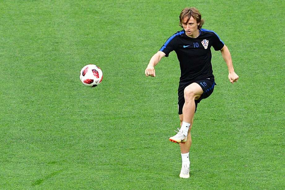 Croatia's midfielder Luka Modric attends a training session at the Luzhniki Stadium in Moscow on July 10, 2018, on the eve of the Russia 2018 World Cup semi-final football match between Croatia and England.  / AFP PHOTO / Mladen ANTONOVMLADEN ANTONOV/AFP/Getty Images Photo: MLADEN ANTONOV;Mladen Antonov / AFP / Getty Images