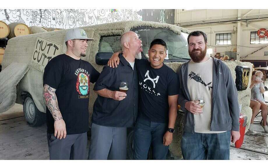 Brewers from Moksa Brewing and Central Coast Brewing join Faction for a pale ale collaboration. Photo: Moksa Brewing / Instagram
